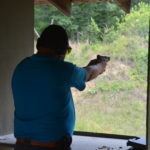 Shooting Airsoft at Swift Venturing Summer Camp
