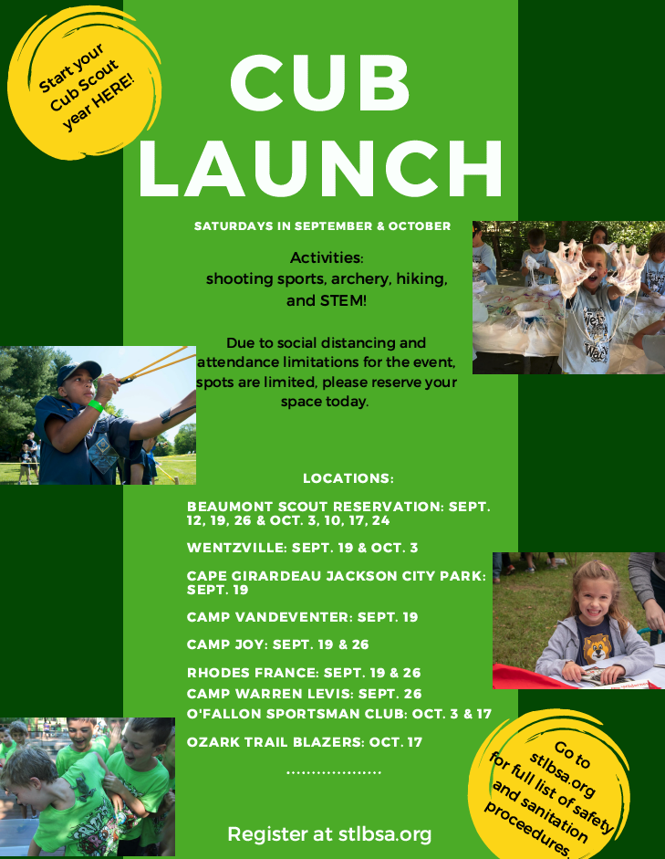 Cub Launch flyer