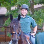 Venturer on a Horse at Swift Venturing Summer Camp